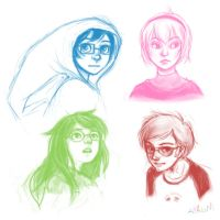 Homestuck 4 kids by LargM