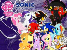 Wallpaper Sonic the Hedgehog and My Little Pony by LightDegel