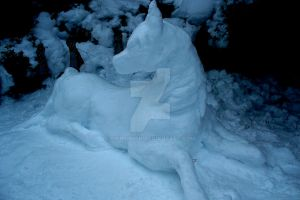 Snow horse by Sisipun1sh