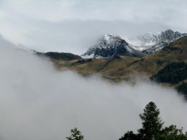 Moutain 183 - snow in clouds by Momotte2stocks