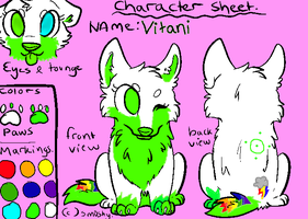 vitani's character sheet by wolf37373
