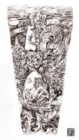 Fullsleeve Comission chinese zodiacs by Asfahani