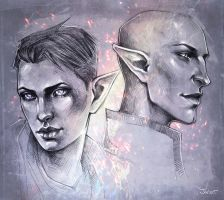 Joanna and Solas by sashajoe