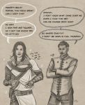 Yvad and Dorian Costume swap by slugette