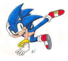 Sonic the Breakdancer by IkaritheHedgehog