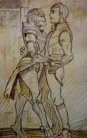 Turian and human by zzingne