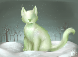 God Cat (Advent Calender Dec. 2nd) by Kittly