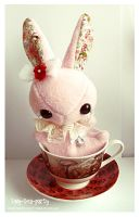 Pru - Tea Party Bunny Beanie - /sold by tiny-tea-party
