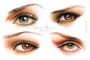 Eyes and make-up iii by dh6art