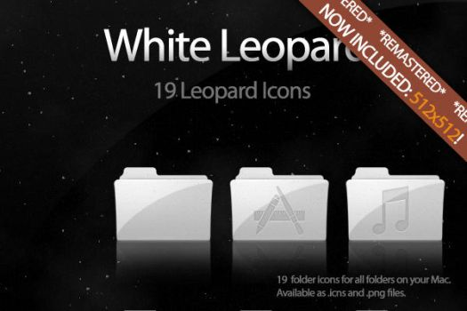 White Leopard Icon Set UPDATE by DecompositionBeauty