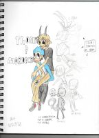 thomas and mordecai,and other stuff by phantomshoujo
