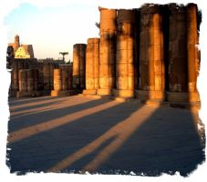 temples Luxor shadows by gostknight