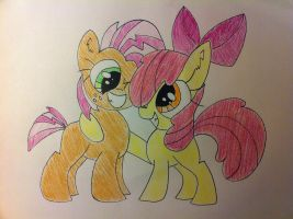 Apple Bloom X Babs Seed Friendshipping! by anonymousnekodos