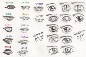 Homestuck Mouths and Eyes by Lucy-BiggerHTF