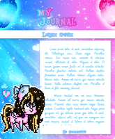 [COMMISION] Custom Journal Skin (Animated) by KinziGamer