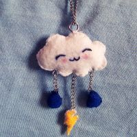 Happy Cloud Plush Necklace by youtastelikecookies