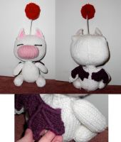 Custom Knitted KH Moogle by OblivionMasquerade
