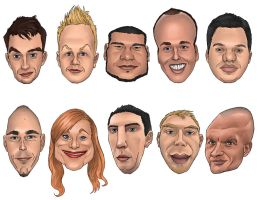 Commision: Caricatures by luebbi1981