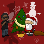 KanyeWest Interrupts Christmas by Kitsumon