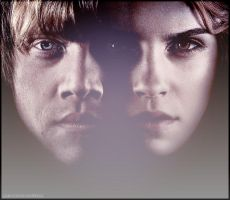 Ron and Hermione Poster by XxBloodOfVampirexX