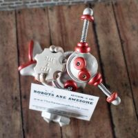 Added Red Ryan, the Robot Business Card Holder to  by HerArtSheLoves