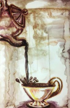 Eponymous Tea Painting by chrysalis-of-glass