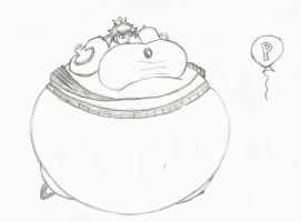 inflated princess peach by bbwbellylover1