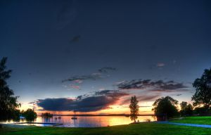 Sunset panorama HDR by Lindqvist