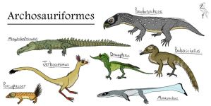 Archosauriformes: Mammalsaurs, Crocs, and Dragons by ZoPteryx
