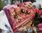 Custom 3DS Case - Glitter Tea Party by maikoneko