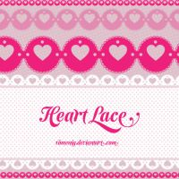 Decorated Heart Laces by Romenig