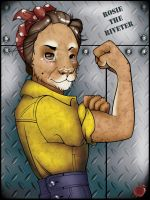 Lioness: Rosie  the Riveter by kireihiryu