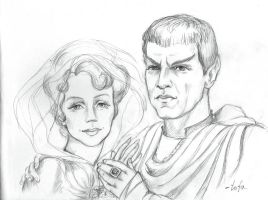 Amanda and Sarek by tafafa