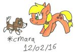 puppy Winona and filly Applejack by cmara