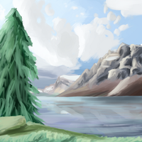 Starting to create backgrounds by khyperia