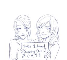 Rain and Emily say: Happy Coming Out Day! by SennaKoshiba