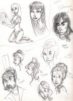JSMN: character sketches 6 by Agatha-Macpie