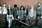 black and white comic book walking dead group by philter2001