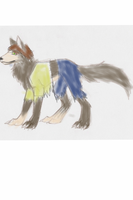 Colored feral werewolf lineart by V8Arwing67