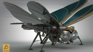 Hood Steampunk Ornithopter by Kurczak