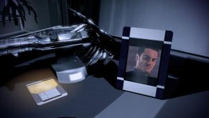 Shepard's Quarters - Kaidan's Picture Closeup by loraine95
