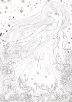 Sunrise of Spring - Lineart by Gwendolyn12