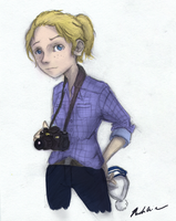 Heather and her camera by drawing-wannabe