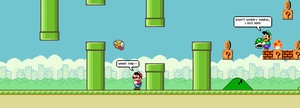 Flappy Bird meets the Mario Bros. by fmirza95