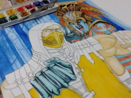 MKX Scorpion vs Kotal Kahn WIP by Grace-Zed