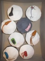Microbe cupcakes 2 by recycledrapunzel