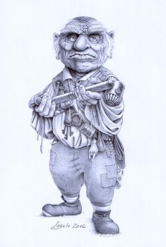 Hoggle from LABYRINTH by Skulpturen