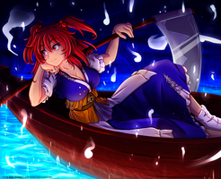 Komachi Onozuka - Sailing across the Sanzu by Ayla-Kazemi
