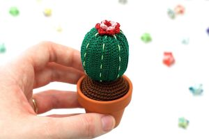 Tall Barrel Cactus by TheBittiestBaubles