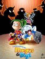 Magus_and_Digi by adile